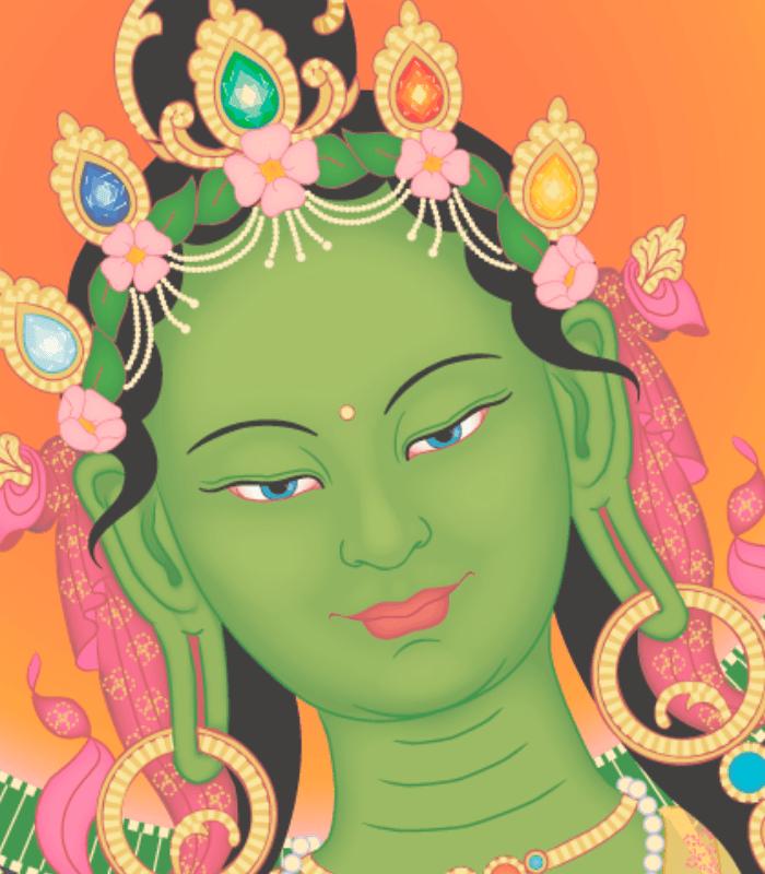 Green Tara Close up