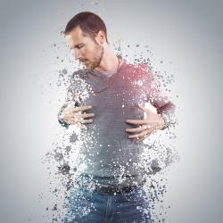 Man shattering